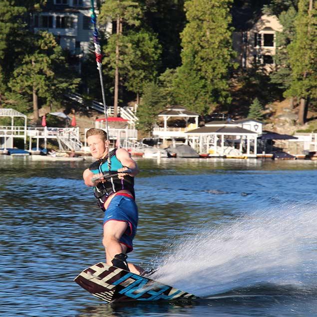 Man jetskiing in Lake Arrowhead